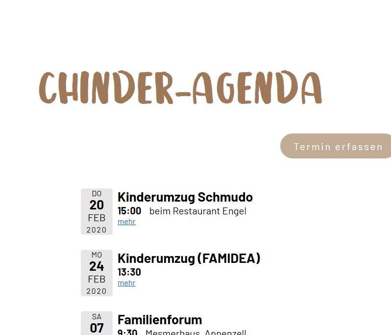 Chinder-Agenda