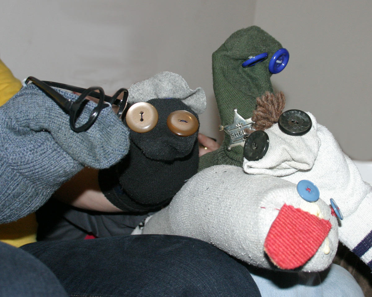 Handpuppen_aus_Socken